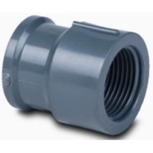 Cupla de PVC para pegar transicion Rosca