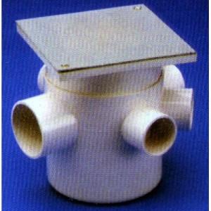 Pileta de piso con Tapa 15 x 15 de PVC